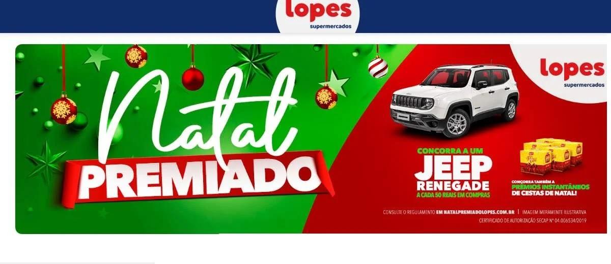 Natal 2019 de Prêmios Lopes Supermercados