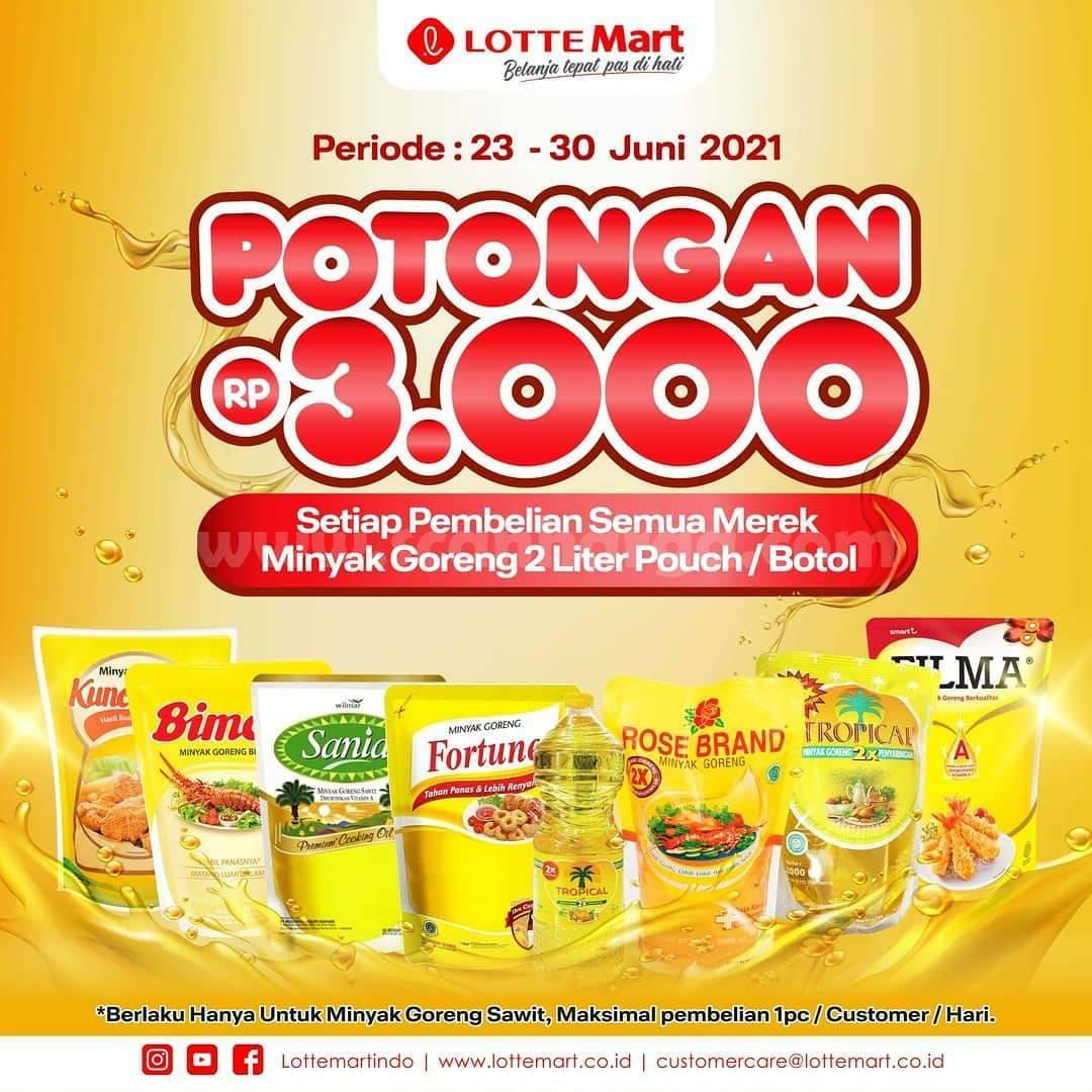 LOTTEMART Promo Potongan Rp. 3.000 - Tiap Beli Minyak Goreng 2 Liter Semua Merk