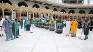 Menangkal Penyebaran Virus Corona di masjidil haram