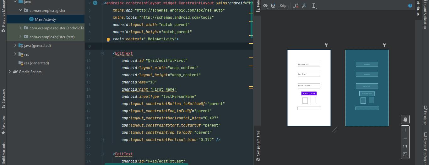 membuat aplikasi android registrasi - create android regist form app