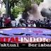 Pengemudi Online dan Ojek Online Saat Gelar Aksi Demo Di Kantor Pusat Grab Berujung Ricuh