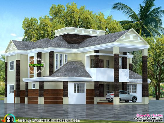 Colonial type 5 bedroom home in Kerala