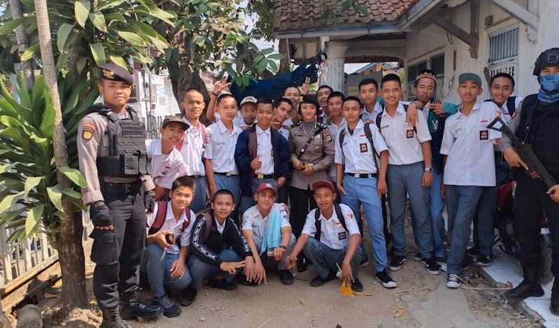 Patroli Dialogis Ditsamapta, Kunjungi Pelajar Dan Himbau Jangan Terprovokasi HOAX