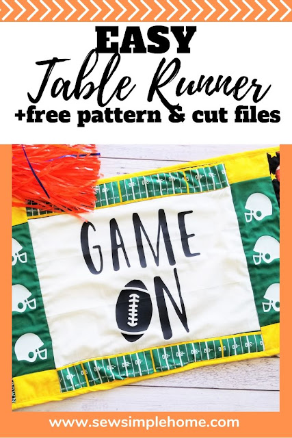Follow this free pattern and step by step tutorial to learn how to sew a table runner revolving around your favorite sports team or season.