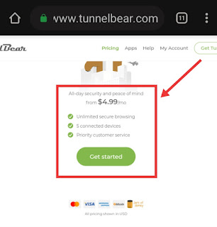TunnelBear VPN Plans and Pricing