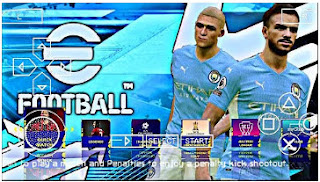 Download eFootball PES 2022 PPSSPP Season Update CV8 Best Real Face & New Kits And Latest Transfer
