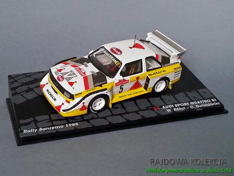 IXO Altaya Audi Quattro S1 E2 Rallye Sanremo