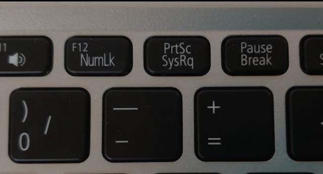 cara screenshot dengan tombol prtsc