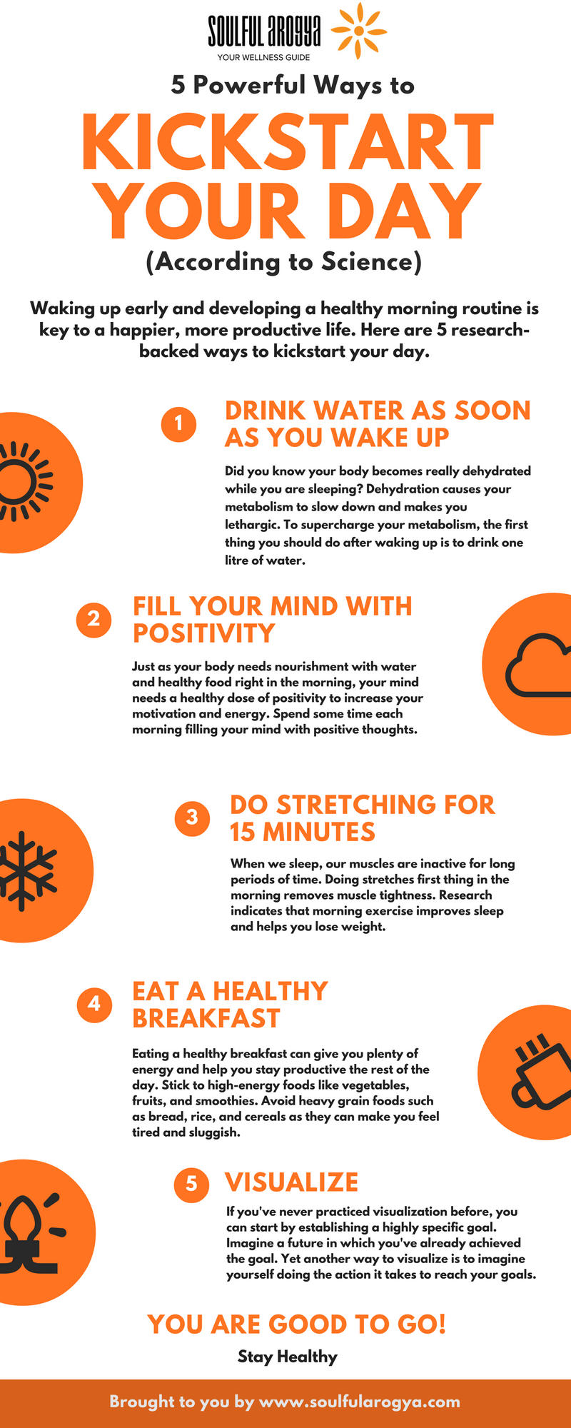 5 Powerful Ways to Kickstart Your Day #infographic