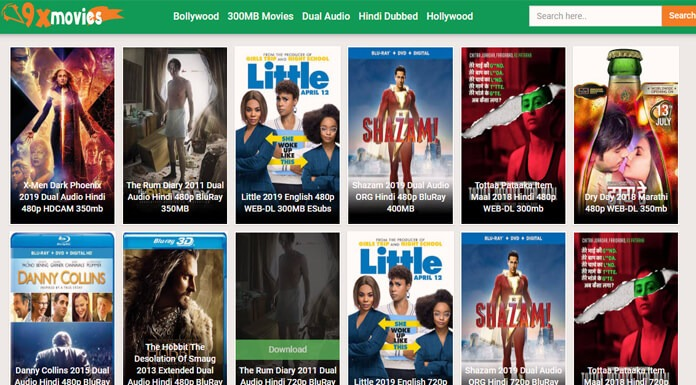 9xMovies – 300MB Bollywood Hollywood Hindi Dubbed Movies Download Or Watch Online