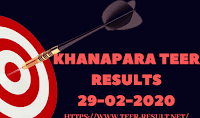 Khanapara Teer Results Today-29-02-2020