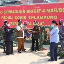 Gubernur Arinal Resmikan Dapur Umum Lapangan Brigif 4 Mars/BS Peduli Covid-19