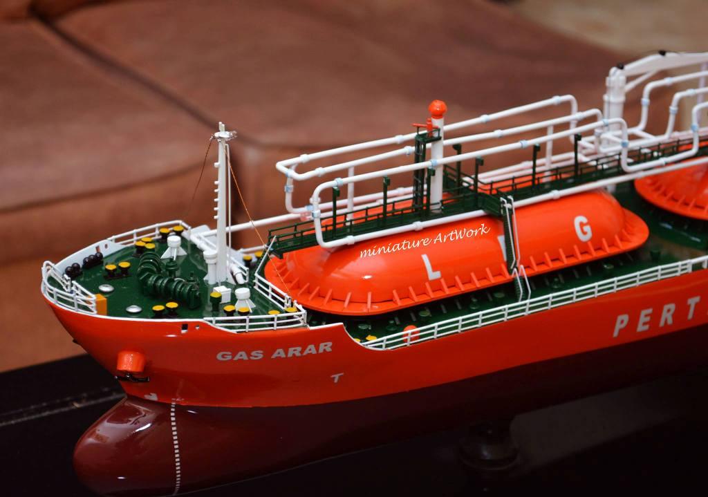 tempat jual miniatur kapal gas arar lpg tanker harga murah terpercaya planet kapal