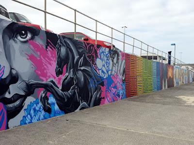 Graffiti wall at Bondi Beach in Sydney Australia