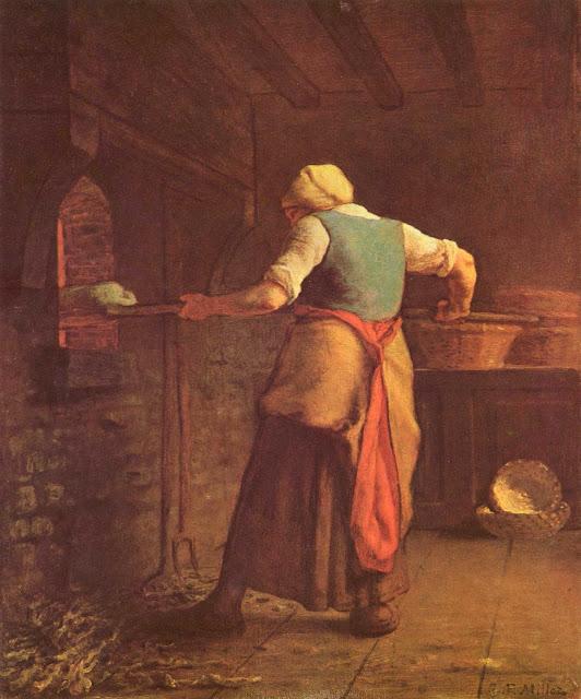 Жан Франсуа Милле - Женщина печет хлеб. 1854