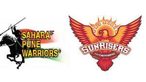 आइपीएल 6 का तीसरा मैच सनराइजर्स हैदराबाद और पुणे वरिवर्स इंडिया के बीच होना है