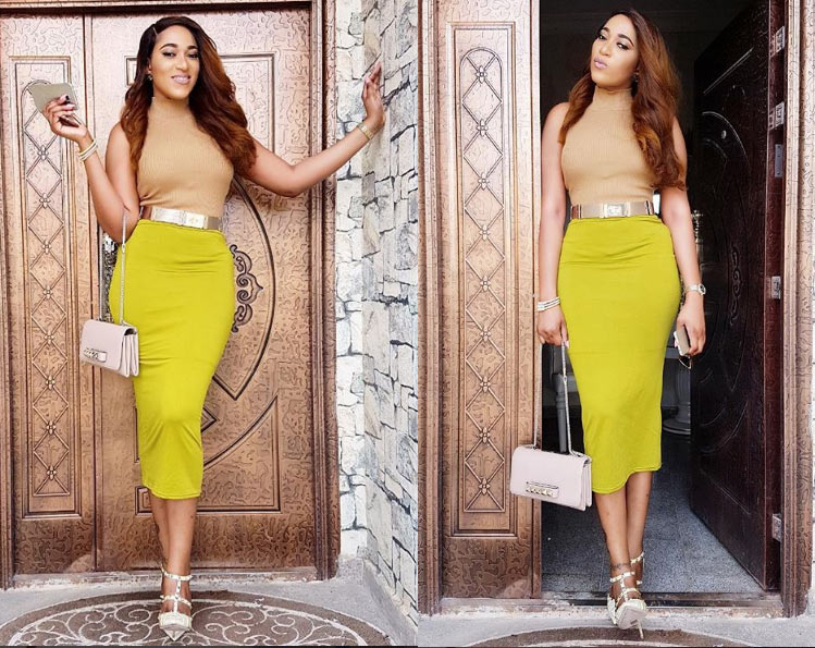 Fans gush as flawless Rukky Sanda dazzles in yellow./brown ensemble