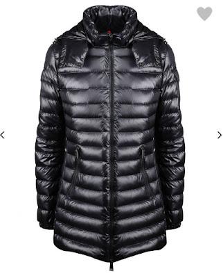 pikowana kurtka Moncler, czarny kolor, cena