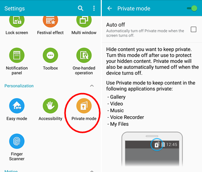 Where Are Files on Private Mode on Samsung