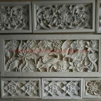 Relief Batu paras motif Tumbuhan