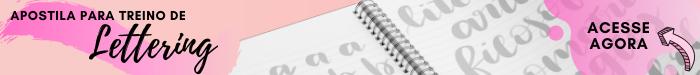 Apostila para treino de Lettering: imprima e treine