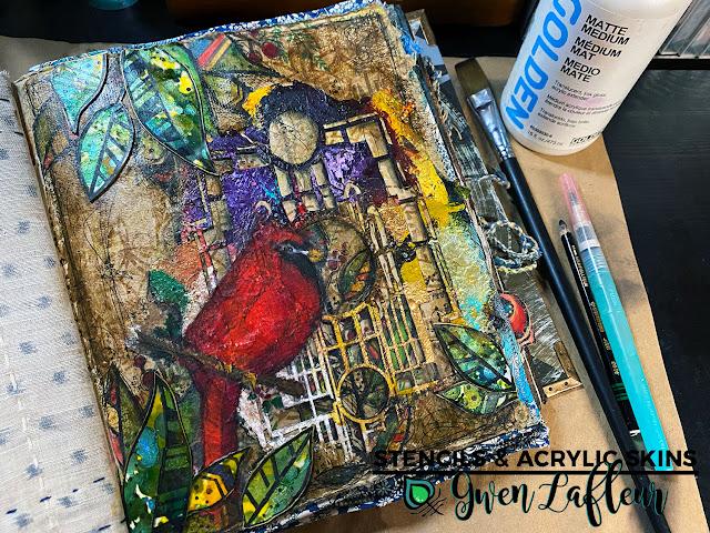 Stencils & Acrylic Skins Tutorial - Step 10 - Gwen Lafleur