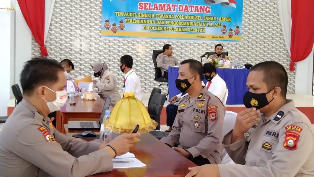 Tim Audit Polda Sulsel Periksa Bag. Sat dan Polsek Jajaran Polres Kepulauan Selayar