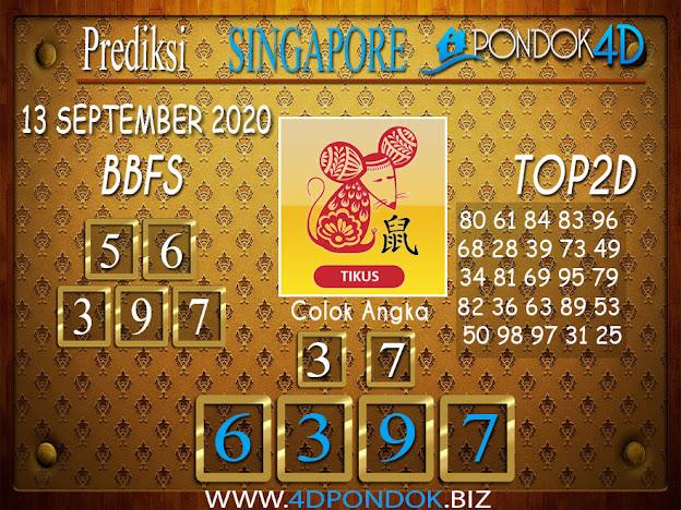 Prediksi Togel SINGAPORE PONDOK4D 13 SEPTEMBER 2020