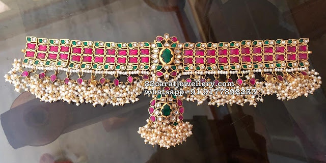 Pretty Kundan Choker in 925 silver