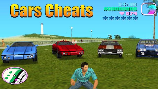GTA Vice City Cars Cheat Menu Mod For Pc