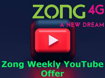 Zong Weekly YouTube Offer Subscription & Unsub Code