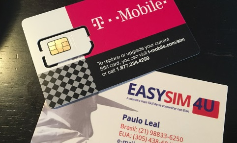 Chip pré pago T-Mobile EasySIM4U celular na Europa
