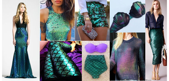 Sereismo roupas brilho furta-cor escamas