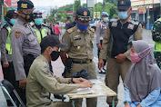 Operasi Gabungan, Petugas Menindak Sebanyak 20 Pelanggar Tidak Menakai Masker