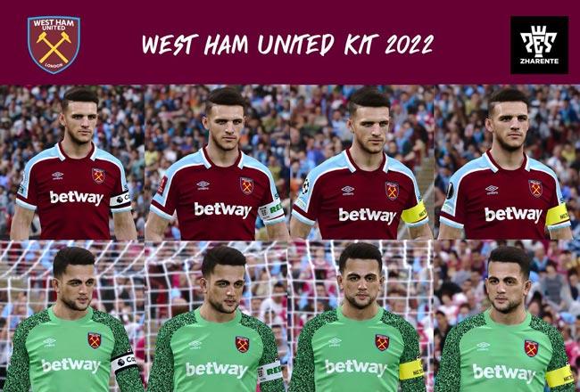 West Ham United Home Kit 2021-2022 For eFootball PES 2021