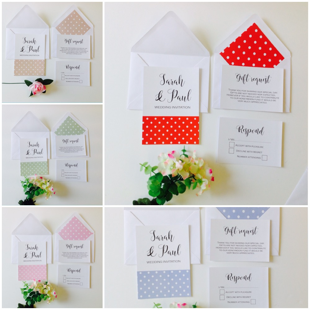 inspired by script our polka dot design wedding With wedding invitations polka dot design