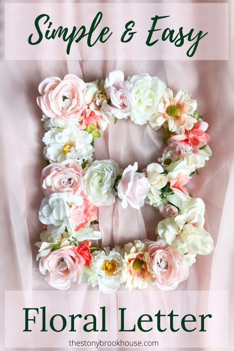 Simple & Easy Floral Letter