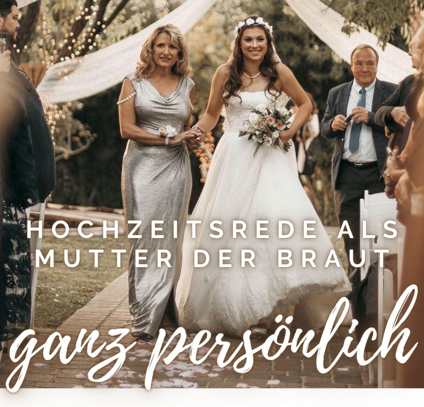 Hochzeitsrede Brautmutter (lustig)