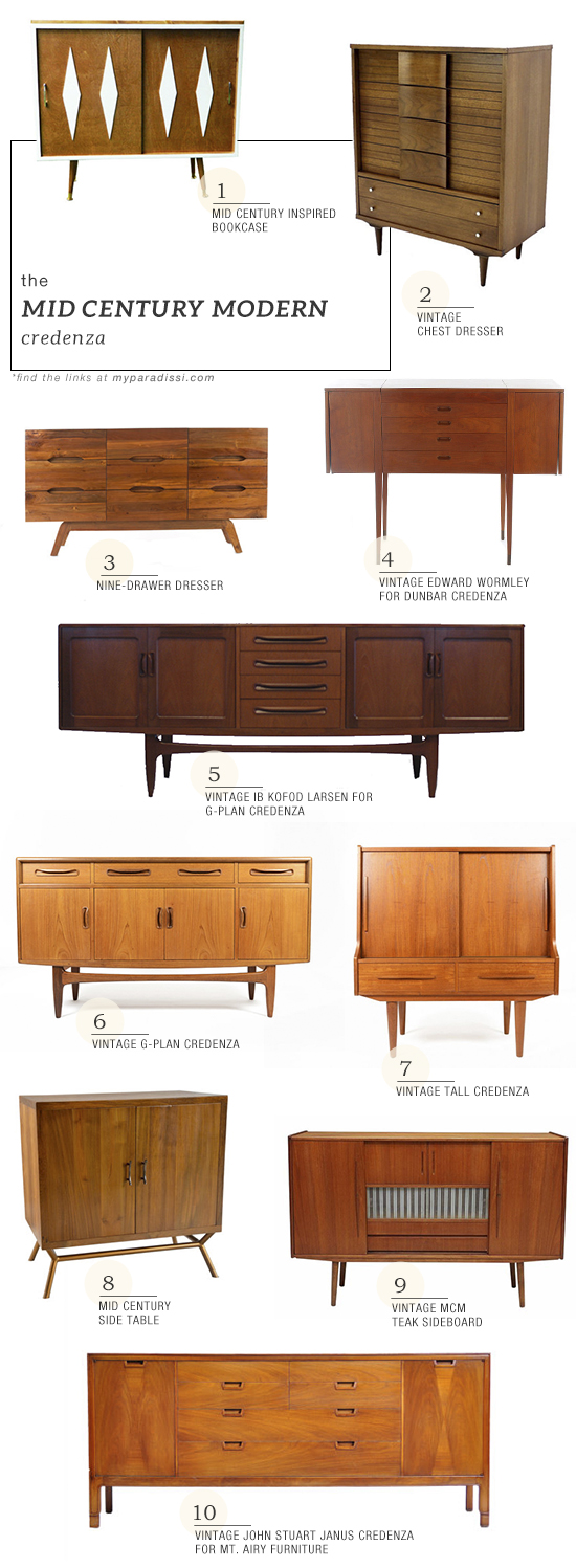 The mid century modern credenza shopping picks | My Paradissi