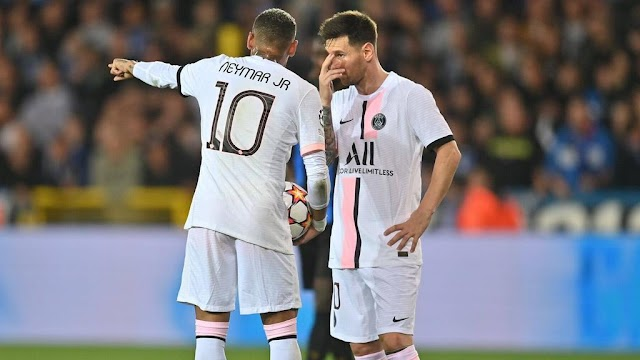 PSG held to a 1-1 draw with Club Brugge