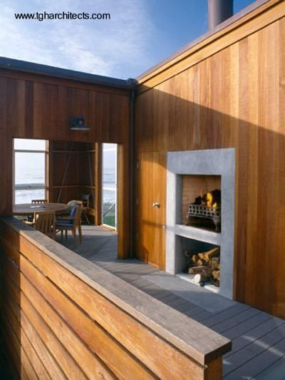 Sector de casa de madera estilo Contemporáneo