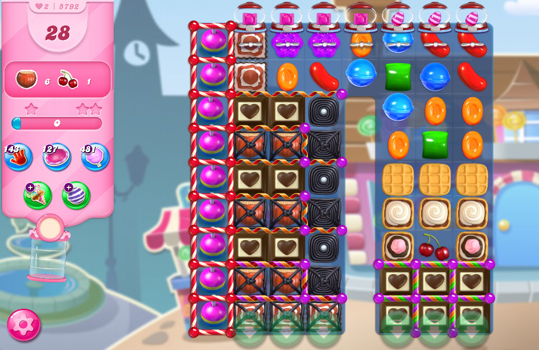 Candy Crush Saga level 5792
