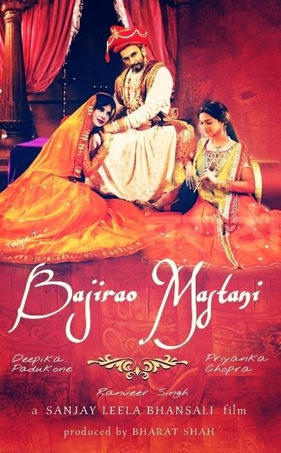 bollywood movie poster of Bajirao Mastani Star cast Ranveer Singh, Release date 2015