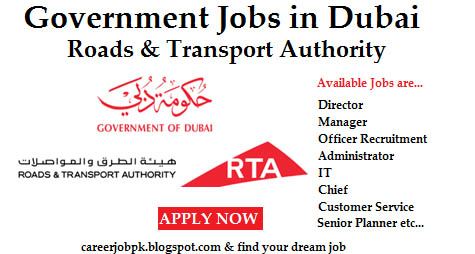 Road Transport Authority Dubai Jobs