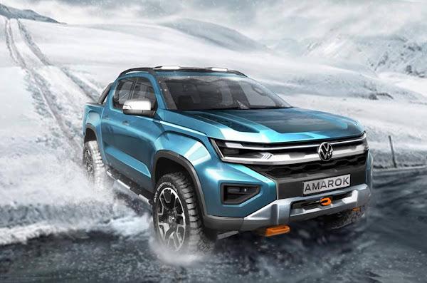 Novo Volkswagen Amarok 2022: tem teaser oficial revelado