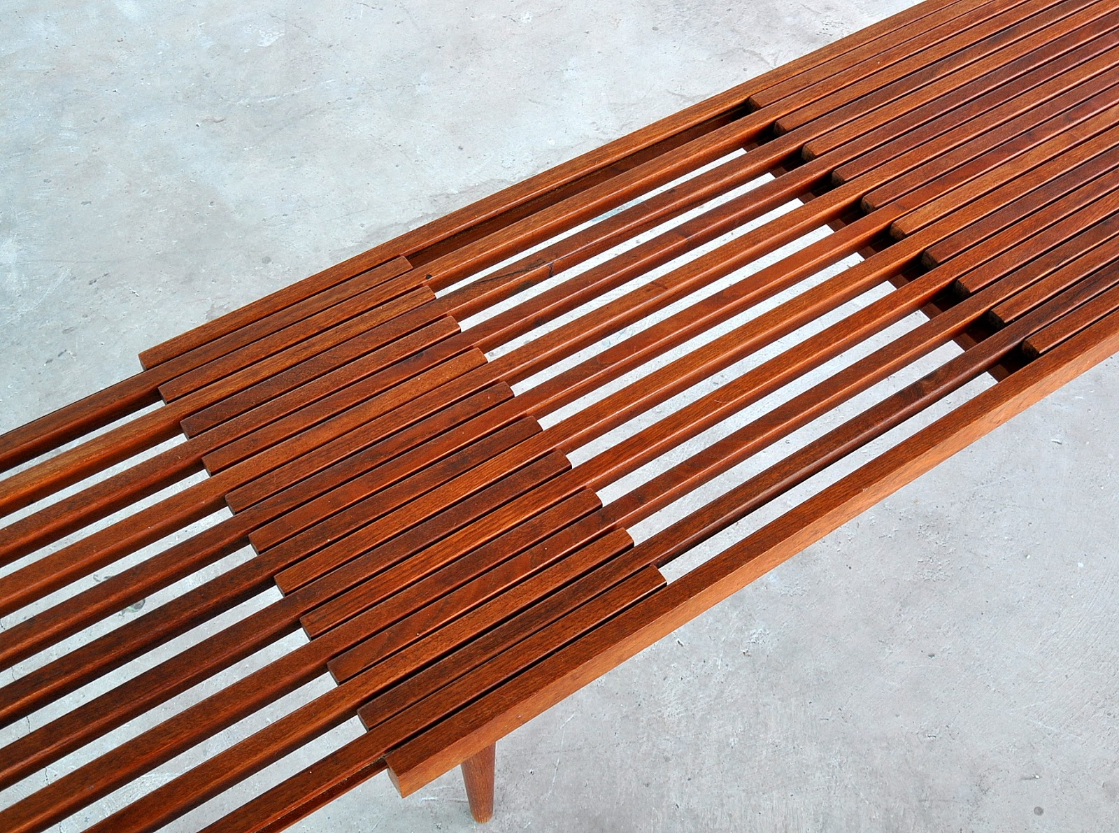 Select Modern Brown Saltman Expandable Teak Slat Bench Or
