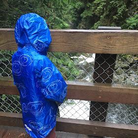 David in his raincoat
