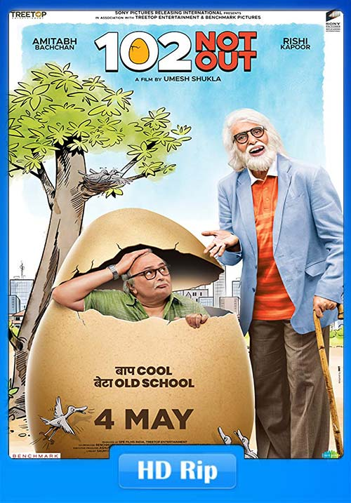 102 Not Out 2018 Hindi 720p New WEBRip x264   480p 300MB   100MB HEVC Poster