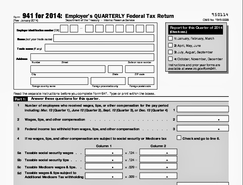 941 form 2014  Republican National Convention Blog: employment tax return ...