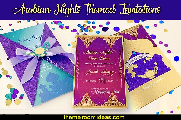 arabian themed party invitations moroccan party invitations jasmine party invitations party